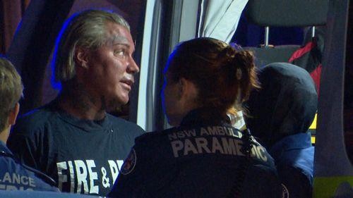 Fire crews managed to get undies man a shirt. (9NEWS)