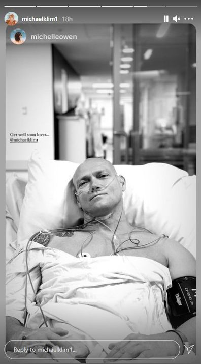 Michael Klim, selfie, hospital, procedure, remove, cyst