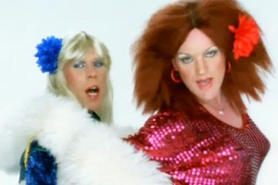 When the British pop duo decided to cover ABBA hit 'Take A Chance On Me', the urge to don Frida and Agnetha's iconic outfits proved impossible to resist!