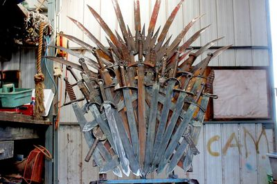 """<P>Mr Whitehead says he doesn't expect anyone to cough up the <A href="""" http://www.gumtree.com.au/s-ad/urana/other-antiques-art-collectables/-game-of-thrones-inspired-full-sized-scrap-metal-throne/1056080800"""">$25,000 he's asking for it</A>  but after HBO started selling fibreglass recreations of the throne for $30,000 he was hopeful one deep-pocketed fan might want his creation. """"I thought it wouldn't be too greedy asking for $25,000,"""" he said. </P> <P>""""But if no one buys it I'd be very happy to keep it."""" </P> <P>""""I won't be disappointed if I don't sell it."""" </P> <P></P>"""
