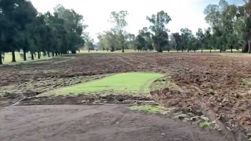 The entire golf course was essentially destroyed.