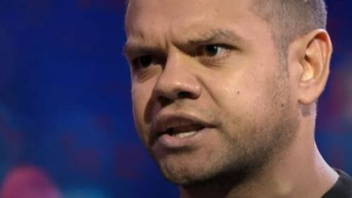 Meyne Wyatt gave a confronting and challenging monologue on racism in Australia.
