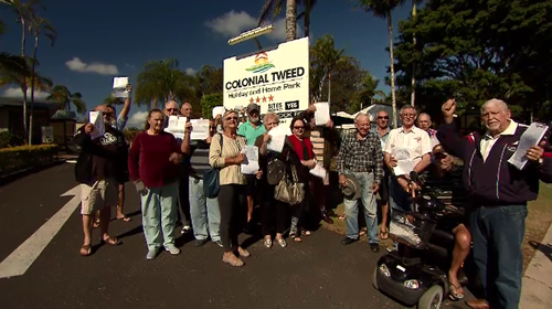 Caravan park residents claim they're being overcharged on electricity.