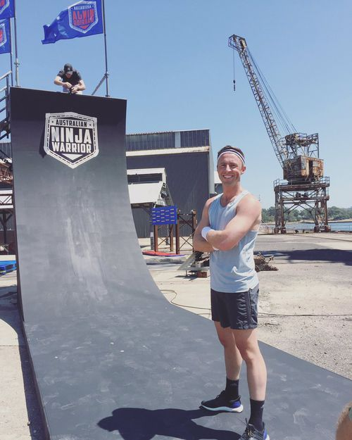 There's nothing easy about the giant Ninja Warrior obstacle course. (@cstanaway)