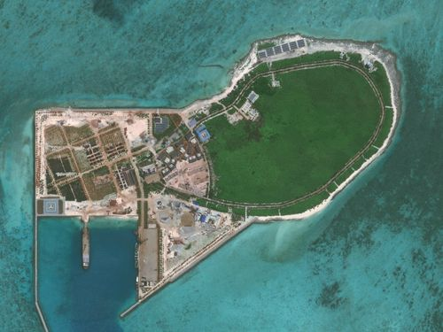 DigitalGlobe imagery of Tree Island. Tree Island is one of the main islands of the Paracel Islands group in the South China Sea.