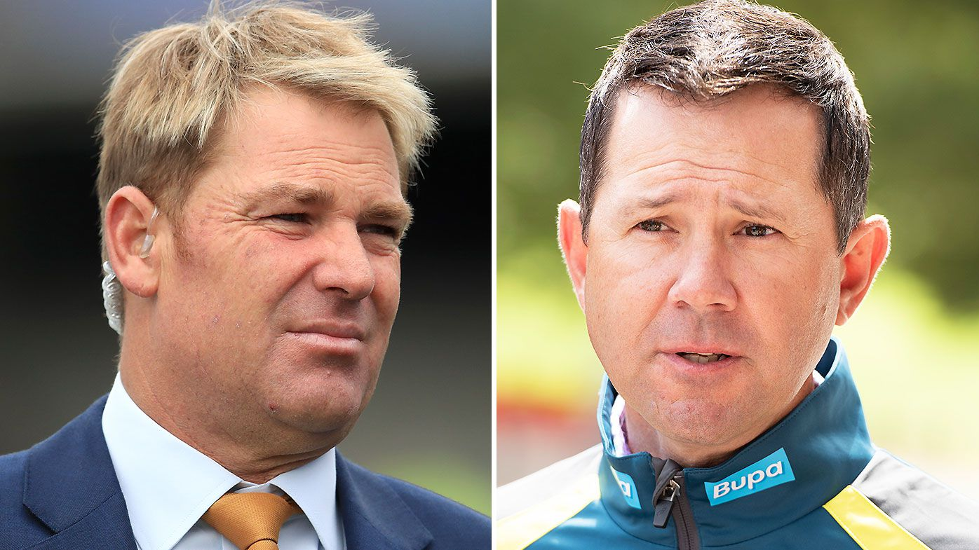 Shane Warne calls for former captain Ricky Ponting to be banned from the IPL