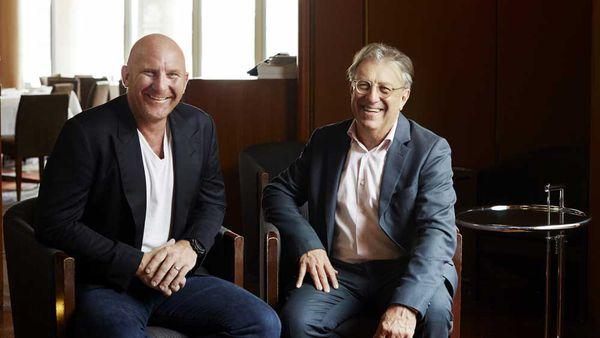 Chef Matt Moran and architect George Livissianis