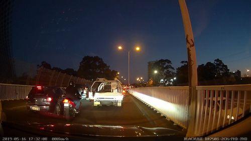 190601 Blacktown Sydney road rage incident armed motorcyclist dash cam footage crime news NSW Australia