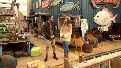 Ex-Blockhead Dale Vine shows Bec around Geelong