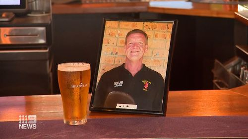 A beer at the pub for Bob Palmer.