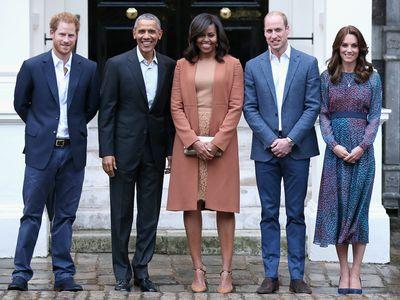 The Obamas at Kensington Palace, 2016