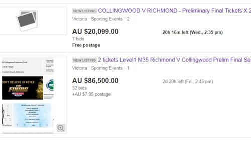 The jaw-dropping listings appeared on eBay tonight...