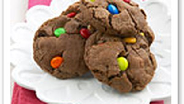 Triple-choc cookies