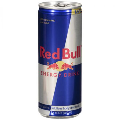 <strong>250ml Red Bull can (27 grams of sugar)</strong>
