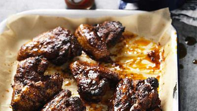 "<a href=""http://kitchen.nine.com.au/2017/04/07/14/02/hayden-quinns-rum-and-coke-wings"" target=""_top"">Hayden Quinn's rum and coke wings</a>"