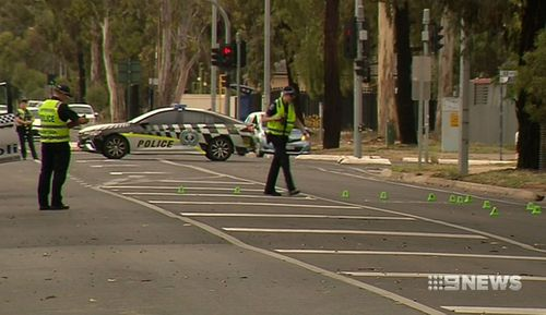 A 24-year-old man has died after being hit by a car in Adelaide in the early hours of the morning.