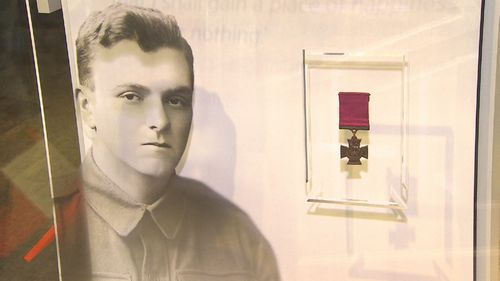 The exhibition also houses accolades like the Victorian Cross posthumously awarded to Private Patrick Budgden.