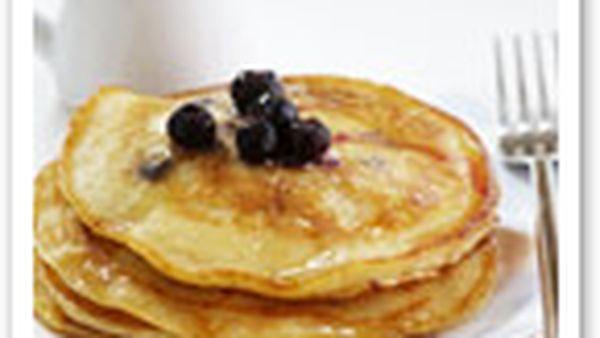 Lemon and blueberry pancakes