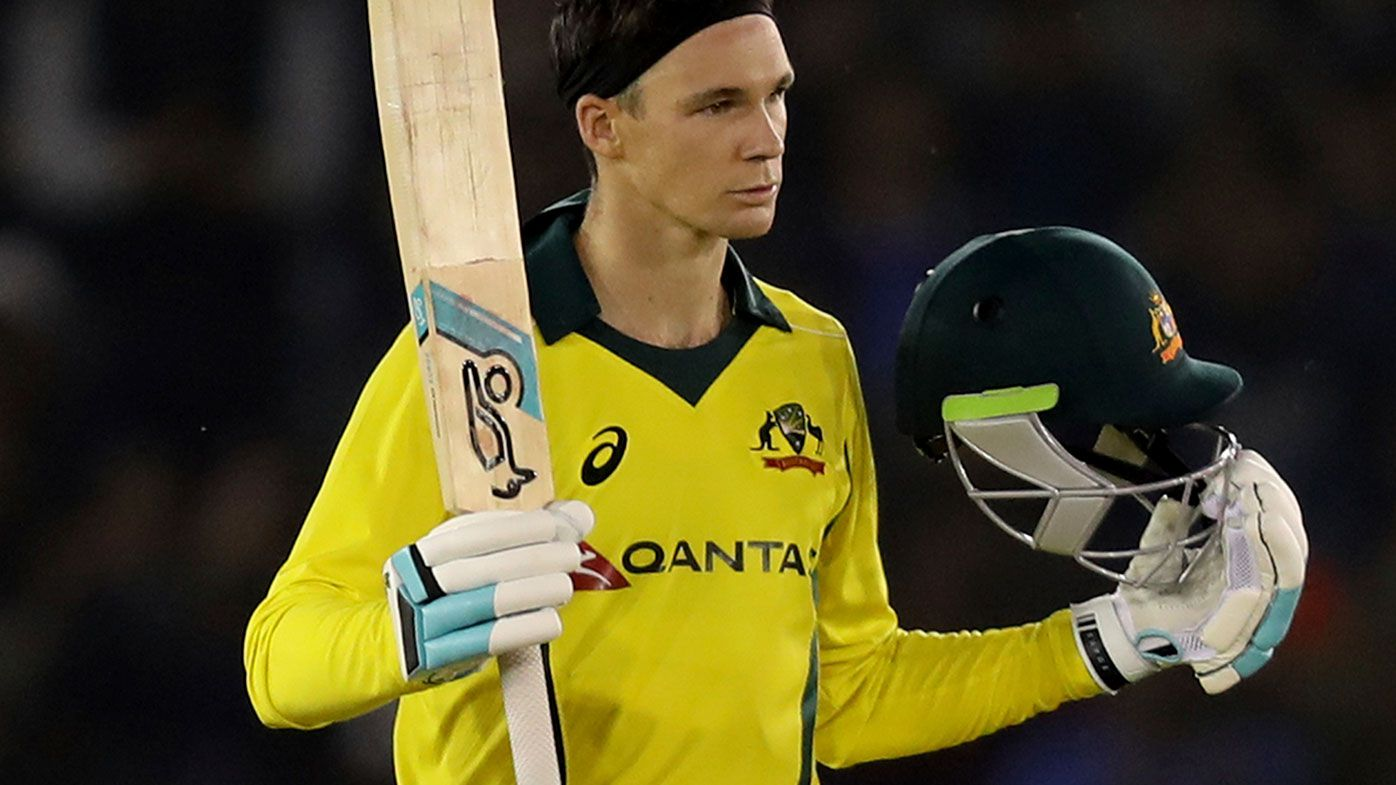Peter Handscomb scored a century in game four of the series.