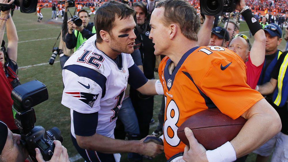 Tom Brady and Peyton Manning. (AFP)
