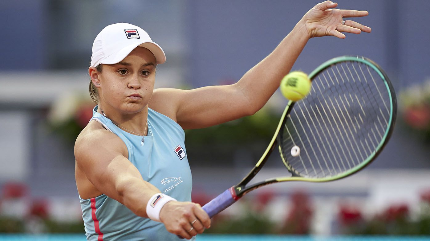 Ash Barty beats fellow French Open champ Iga Swiatek at Madrid Open to reach quarters
