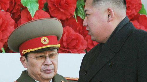 Jang Song-thaek and Kim Jong-un. (AAP)