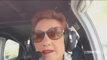 VIDEO: Pauline Hanson records anti-immigration video flying over Ipswich