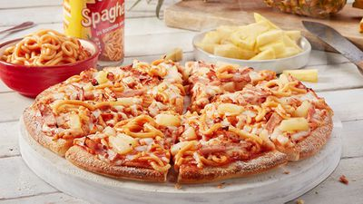 Spaghetti and Pineapple pizza