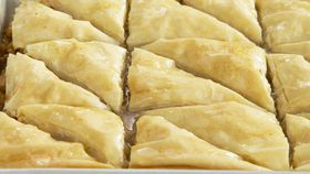 Macadamia and cinnamon baklava