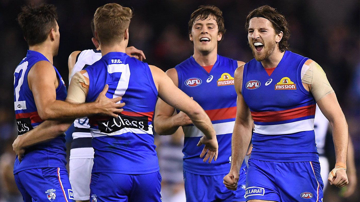 Western Bulldogs continue giant-killing spree with win over ladder-leading Geelong