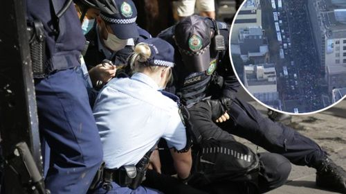 Sydney anti-lockdown protest July 24