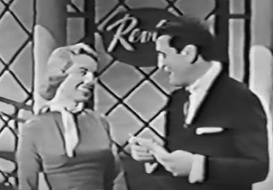 Screenshot from 1955 episode of '$64,000 Question' with Dr Joyce Brothers.