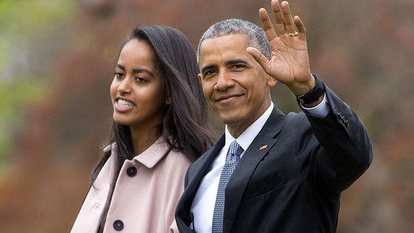 Malia and Barack Obama