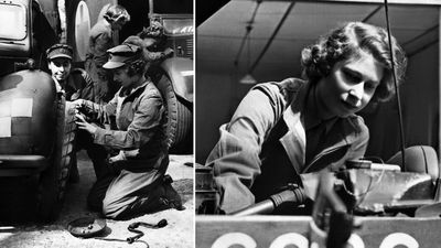 Princess Elizabeth working for the British Army during WWII