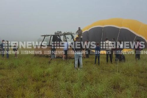 Twenty-four people were on the hot air balloon which crashed this morning. (Supplied)