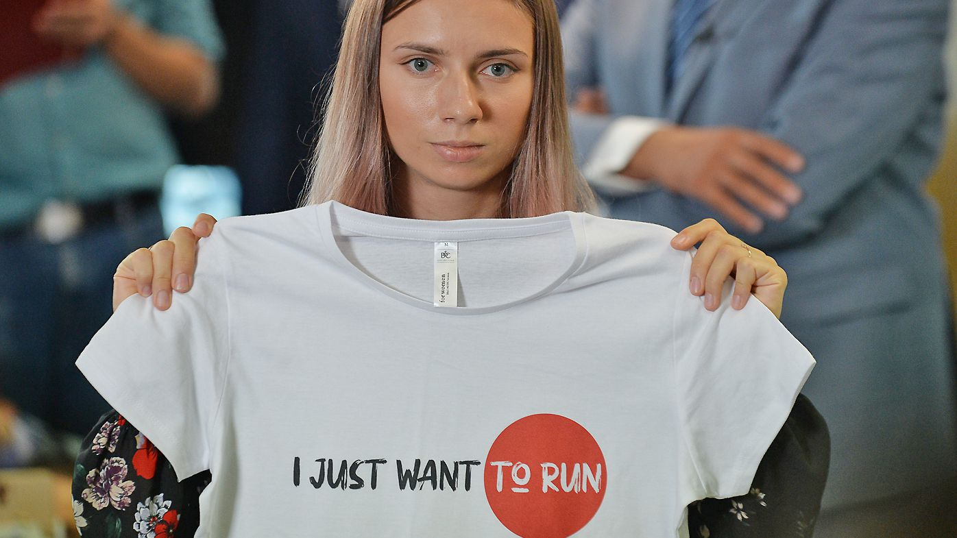 Krystsina Tsimanouskaya is a Belarusian sprinter who refused to fly back to her country out of fear for her safety