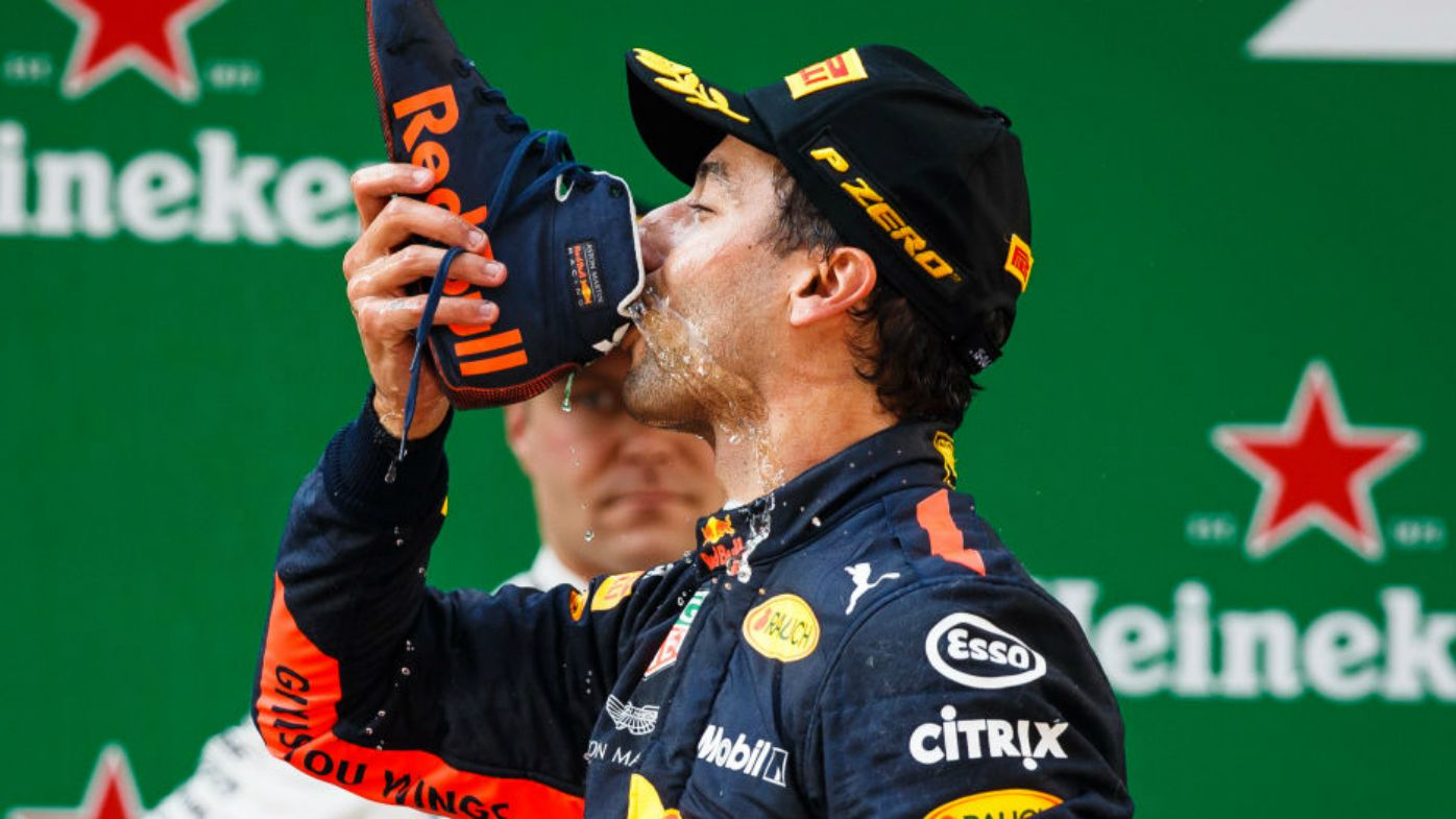 Formula One trademark the word 'shoey'