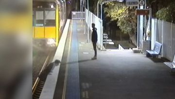 How did this man escape death after jumping in front of a train?