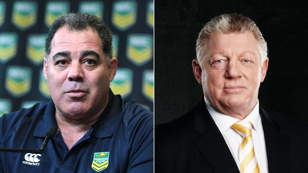 Mal Meninga (l) and Phil Gould.
