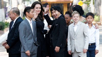 Angelina Jolie makes first public appearance with kids since Brad Pitt split