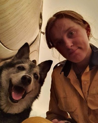 Siobhan with her dog