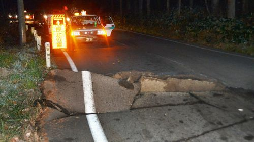 More than 20 aftershocks hit Nagano following the first major shock. (AAP)