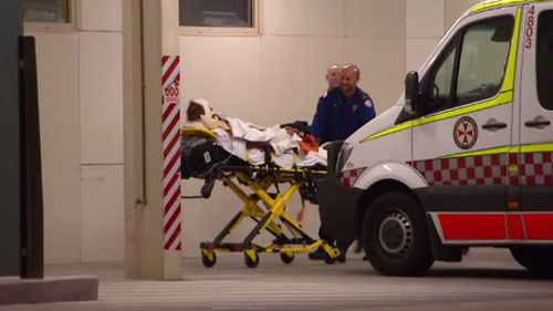 The car's 30-year-old driver was taken to hospital in a serious condition, another passenger remains in a stable condition and police are investigating the circumstances around the crash. Picture: 9NEWS.