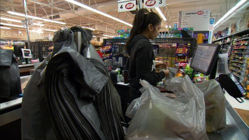 Small supermarkets will be included in the ban. (9NEWS)