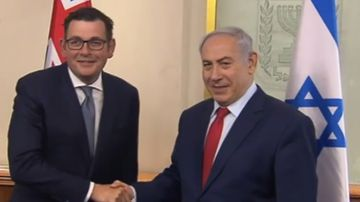 Israeli PM has 'productive' chat with Victorian Premier amid Trump controversy