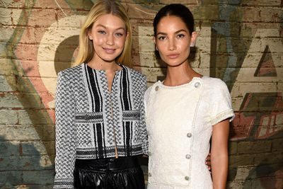 You can't stand with us! <br/><br/>Gigi and Lily look like the two best (high-fash) friends that anyone could ever have...