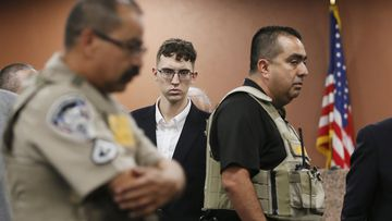 Accused gunman Patrick Crusius faces court accused of the murder of dozens of people at a Wal-Mart in El Paso.