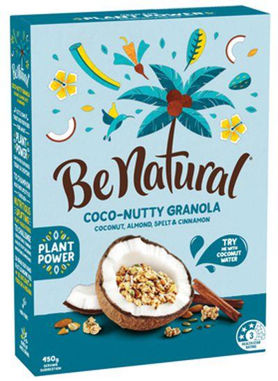 <strong>Be Natural Coco-nutty Granola (16.9 grams of sugar per 100 grams)</strong>