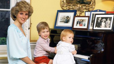 Princess Diana with William and Harry, 1985