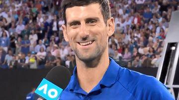 Djokovic cheers up AO crowd after Nishikori devastation